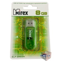 Флэш-накопитель 8GB Mirex ELF Green(блистер)